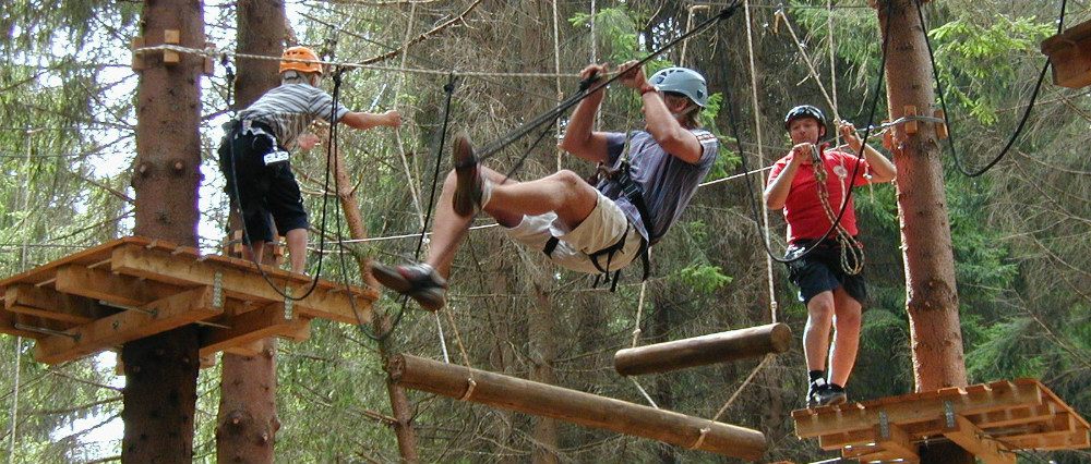 Tarzania - lanový park Jasná